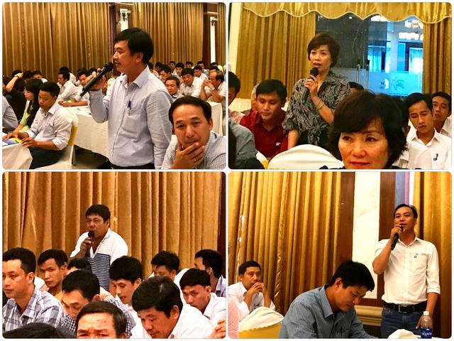 Học viên thảo luận và phát biểu ý kiến về công tác truyền thông tại Petrolimex Đà Nẵng
