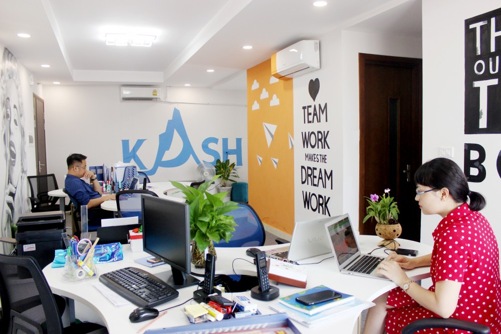 Không gian làm việc cởi mở ở Kash Việt Nam