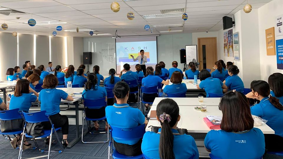 Nhân sự Bảo Việt Nhân Thọ Tràng An trong buổi học